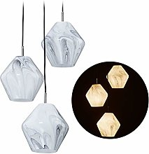 Relaxdays Lampe suspension, 3 ampoules, effet