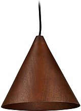 Relaxdays Lampe suspension en bois, lustre de