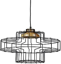 Relaxdays Lampe suspension GRID optique grille