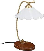 Relaxdays Lampe vintage, art nouveau, douille E27,