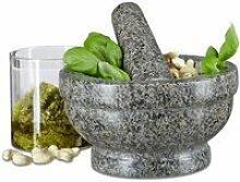 Mortier Classique de Cuisine Marbre Vert avec Pilon Green Marble Mortar 10cm