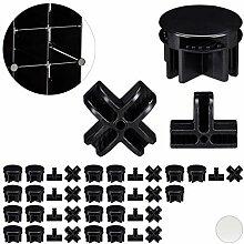 Relaxdays, Noir Connecteurs Plastique pour Cubes
