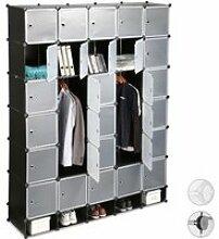 Relaxdays Penderie armoire cubes étagère