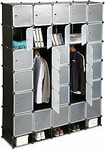 Relaxdays - Penderie armoire cubes étagère