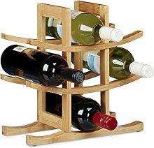 Relaxdays Porte-bouteilles de vin 9 bouteilles