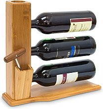 Relaxdays Porte-bouteilles de vin bambou Étagère