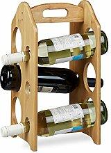 Relaxdays Porte-bouteilles de vin casier à vin