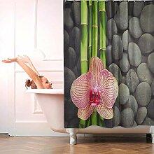relaxdays Rideau de Douche, 180x180 cm, 12