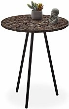 relaxdays Ronde mosaïque, d'appoint,