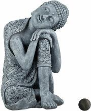 Relaxdays - Statue de Bouddha figurine de Bouddha