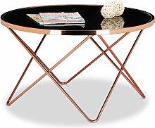 Relaxdays - Table basse ronde COPPER en cuivre et