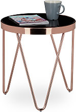 Relaxdays - Table d'appoint ronde en cuivre