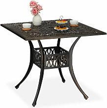 Relaxdays - Table de jardin avec trou pour
