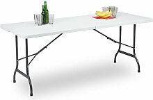 Relaxdays - Table de Jardin Pliant Plastique