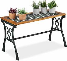 Relaxdays - Table de jardin rectangulaire,