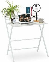 Relaxdays - Table de travail pliable,peu