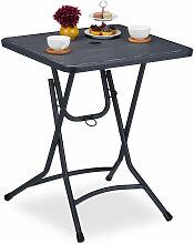 Relaxdays - Table jardin pliante, camping,