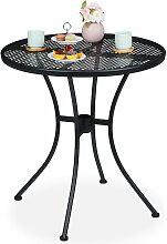 Relaxdays - Table ronde de jardin, trou pour