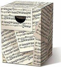 Remember Tabouret en Carton 32,5 x 32,5 x 44,4 cm