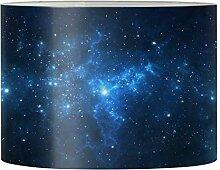 Renewold Abat-jour bleu espace galaxie pour lampes