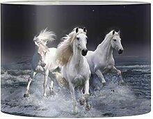 Renewold Abat-jour imprimé cheval pour lampe de