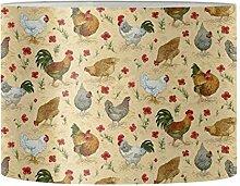Renewold Abat-jour imprimé floral poules pour