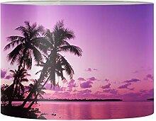 Renewold Abat-jour imprimé palmier pour lampe de