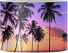 Renewold Abat-jour rond en forme de palmier, rose,
