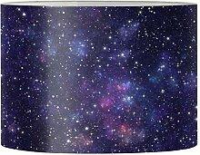 Renewold Abat-jour rond imprimé galaxie pour