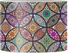 Renewold Abat-jour rond imprimé mandala pour