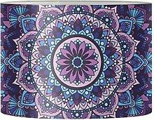 Renewold Abat-jour rond Mandala Lotus violet pour