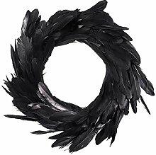 RENJUN- 15.7in Plume Noir Halloween porte de porte