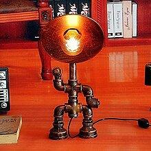 REOOHOUSE Pipe à eau lampe de table industrielle