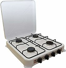 REPLOOD Réchaud à gaz GPL 4 feux blanc, réchaud
