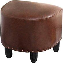 Repose-pieds de pouf en cuir PU moderne vintage,