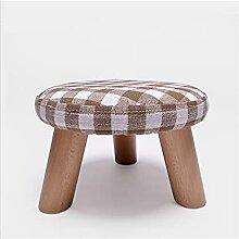 Repose-pieds rembourré Ste-tabouret en bois Sofa