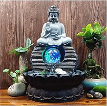 Résine à la Main Zen Moine Chanceux Feng Shui