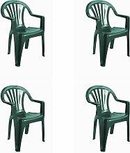 RESOL New Pals Set 4 chaises en plastique avec