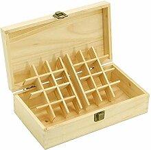 rethyrel Boîte de rangement portable en bois