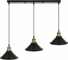 ®Rétro 3 Luminaires Suspensions Noir