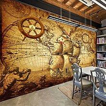 Rétro affiche nostalgique 3D chambre papier peint