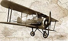 Rétro avion carte du monde papier peint 3D murale