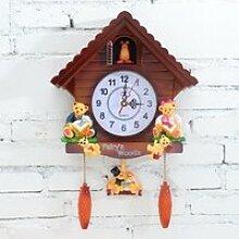 Rétro en Bois Coucou Horloge Artisanat Sculpture