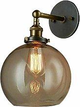 Retro Industriel Applique Murale Lampe Boule Verre
