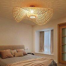 Rétro Lustres Lumière Naturelle De Bambou Et