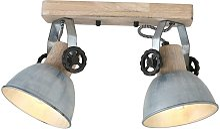 RETRO plafonnier lampe de salon faisceau de bois