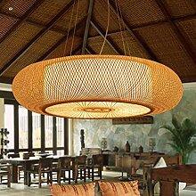 Rétro suspension luminaire en bambou naturel