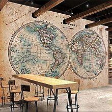 Rétro vintage carte du monde outil thème mur