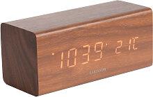 Réveil à LED et température en bois