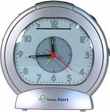 Réveil amplifié (+80dB) Sonic Alert - Argenté